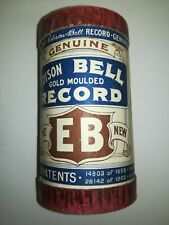A colour photograph of an edison bell wax cylinder