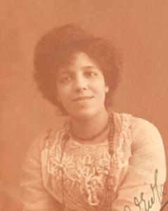 A sepia-coloured photo of composer Amanda Ira Aldridge