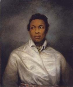 A portrait of celebrated 19th-century black actor Ira Aldridge
