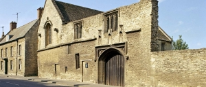 A photograph of the outside wall of fifteenth-century Chichele College in Higham Ferrars, Northamptonshire