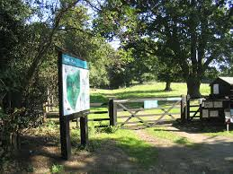 A colour photograph of an entrance at Warley Nature Reserve