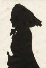 An image of a silhouette of a woman wearing a headscarf