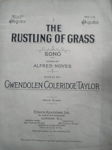 A photograph of the title page of a musical score, published by Eswin Ashdown Ltd