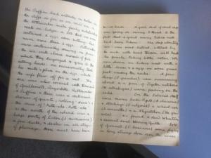 Colour photograph of handwritten journal